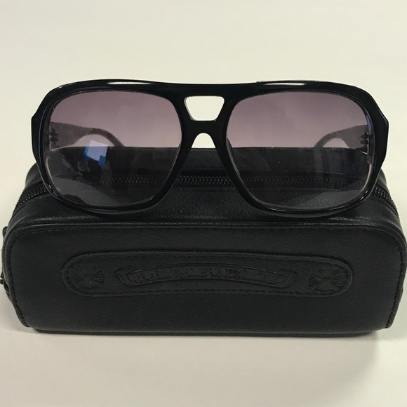 ab57202f39af Chrome Hearts Other - Chrome Hearts Boink Black Red Sunglasses Aviators